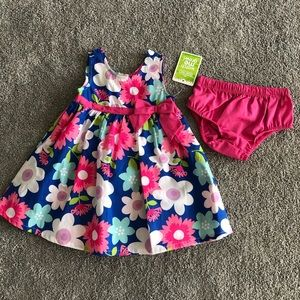 NWT Baby Girl Floral Sundress with Diaper Cover
